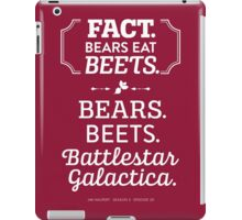 The Office Dunder Mifflin - Jim Halpert Bears. Beets. Battlestar Galactica. iPad Case/Skin