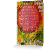 Floating Wisdom Greeting Card