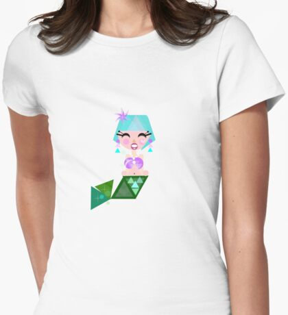 Mermaid Princess Womens Fitted T-Shirt