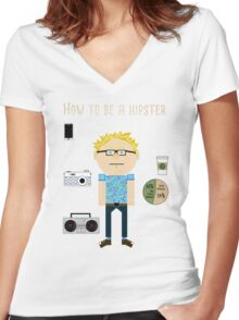 How To Be A Hipster Women's Fitted V-Neck T-Shirt