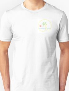 Neon Tequila Sunrise Design White Unisex T-Shirt