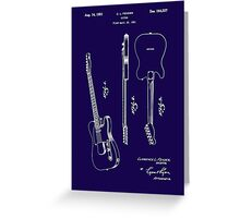 Fender 1951 Electric Guitar Patent Art-b Greeting Card