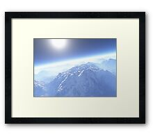 Skyscraper Mountains Framed Print