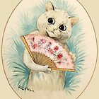 Vintage Louis Wain Geisha Cat by juliealberti