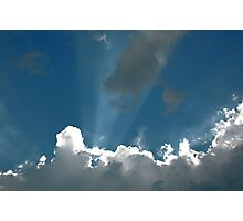 Sun rays through the clouds Photographic Print