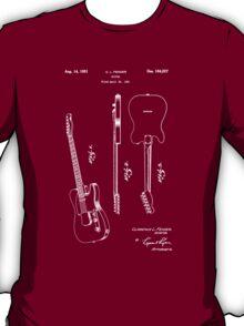 Fender 1951 Electric Guitar Patent Art-b T-Shirt
