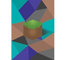 minecraft polygon Photographic Print