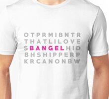 "Buffy & Angel ""Bangel"" Crossword Puzzle Unisex T-Shirt"