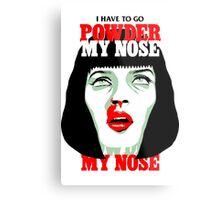 Powder My Nose Metal Print