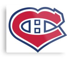 Habs in my Heart Large logo Metal Print
