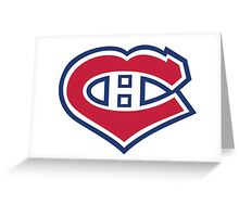 Habs in my Heart Large logo Greeting Card
