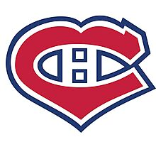 Habs in my Heart Large logo Photographic Print