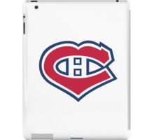 Habs in my Heart Large logo iPad Case/Skin