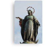 Statue of the Virgin Mary Canvas Print
