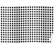 Punch Hole Grid Design Poster