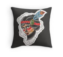The Bearded Lady Throw Pillow