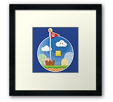 Mario Was Here Framed Print
