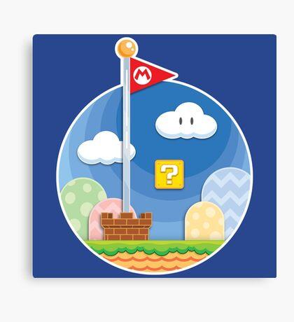 Mario Was Here Canvas Print