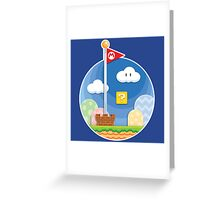 Mario Was Here Greeting Card