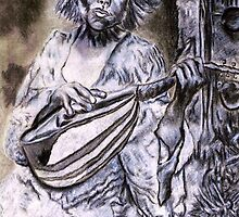 Woman Strumming Mandolin by Steven Torrisi