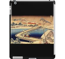 'The Swimming Bridge of Sano' by Katsushika Hokusai (Reproduction) iPad Case/Skin
