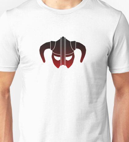 Skyrim Helmet (Red Gradient) Unisex T-Shirt