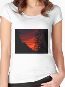 Sunrise In The Rockies Women's Fitted Scoop T-Shirt