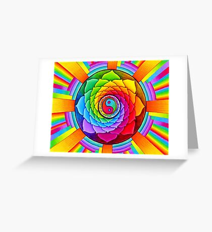 Healing Lotus Greeting Card