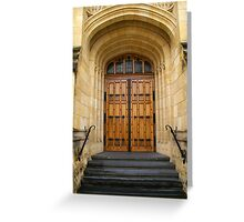 Doors to higher learning. Greeting Card