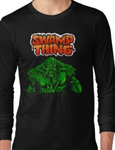 Swamp Thing (Nes) Title Screen Long Sleeve T-Shirt