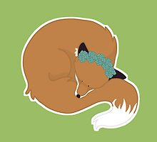 Sleeping Fox by aph-bagel