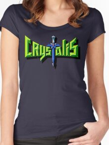 Crystalis (Nes) Title Screen Women's Fitted Scoop T-Shirt