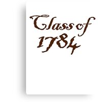 Class of 1784 Canvas Print