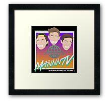 MANNNtv is so 80s!! Framed Print