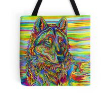 Psychedelic Wolf Tote Bag
