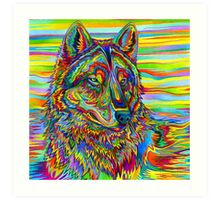 Psychedelic Wolf Art Print