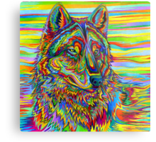 Psychedelic Wolf Metal Print