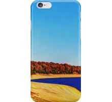 Lakeside In Autumn iPhone Case/Skin
