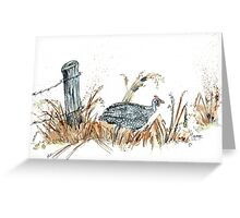 Guineas are winged wonders! Greeting Card