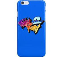 Fatal Fury 2 (Arcade) title Screen iPhone Case/Skin