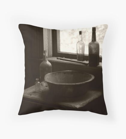 Battered Basin Throw Pillow