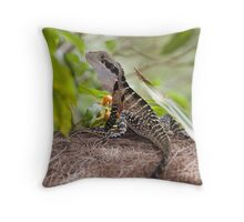 Eastern Water Dragon  Throw Pillow