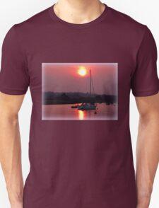 Sun Setting over Topsham Estuary Unisex T-Shirt