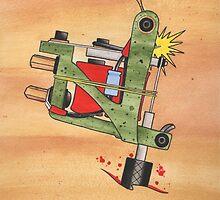 Jonesy Tattoo Machine by redemptiontp
