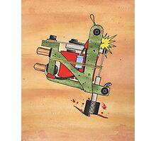 Jonesy Tattoo Machine Photographic Print