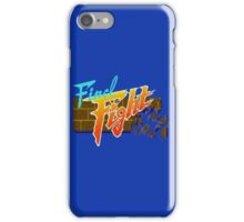 Final Fight (SNES) Title Screen iPhone Case/Skin