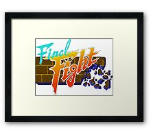 Final Fight (SNES) Title Screen Framed Print