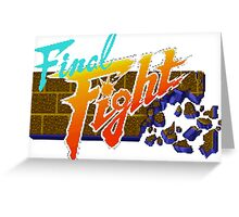 Final Fight (SNES) Title Screen Greeting Card
