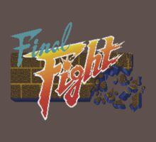Final Fight (SNES) Title Screen One Piece - Short Sleeve