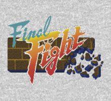 Final Fight (SNES) Title Screen One Piece - Long Sleeve